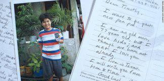 Lettere di Bush al piccolo Timothy