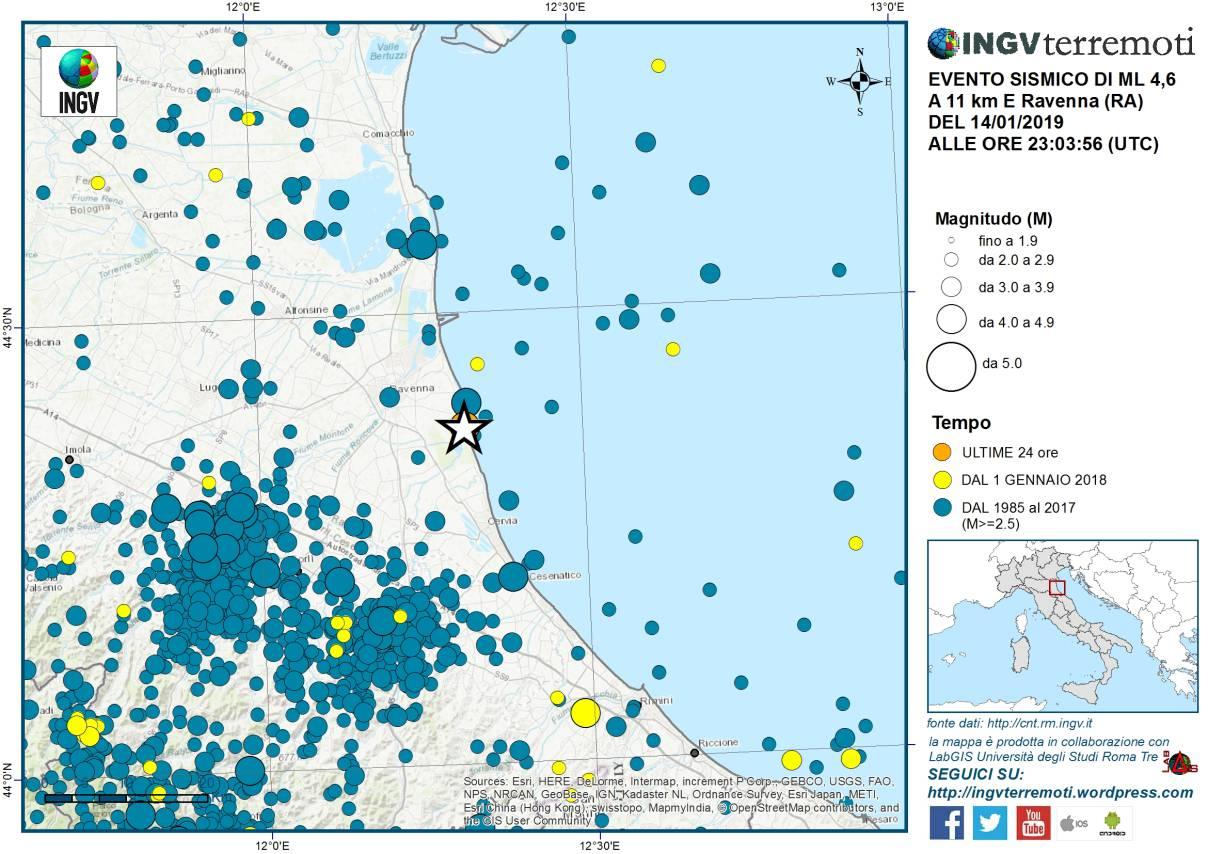 Forte terremoto in Emilia Romagna con epicentro a Ravenna: scuole chiuse