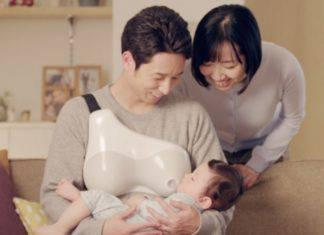papà allattano al seno
