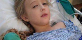 bambina di 8 anni con tumore al seno