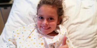 Bambina di 7 anni operata per un tumore al cervello: vittoria