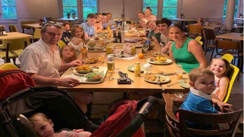 la famiglia più numerosa d'Inghilterra