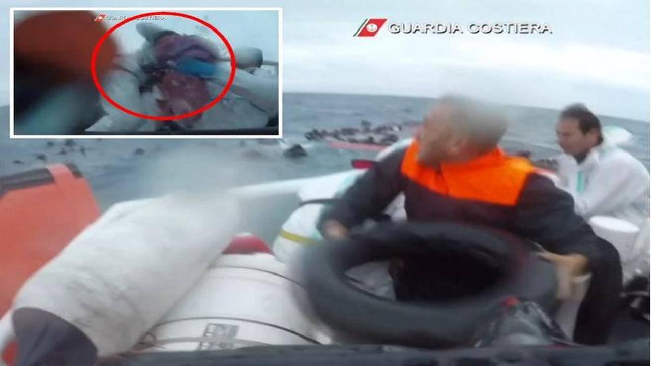 Bambina salvata in mare
