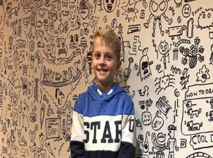 bambino di 9 anni decora un ristorante 1