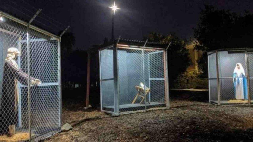 Sacra Famiglia nelle gabbie