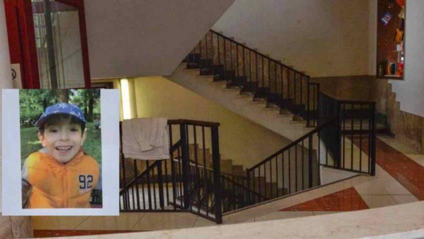 bambino caduto dalle scale a scuola