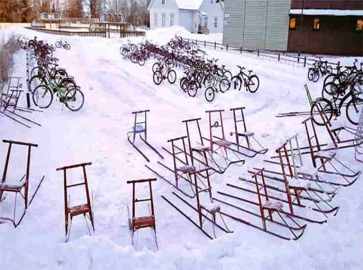 bambini in bicicletta in inverno 6