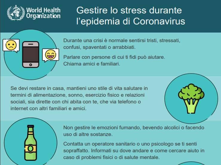 Coronavirus stress consigli