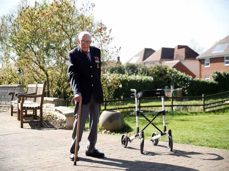 99 anni correndo in giardino