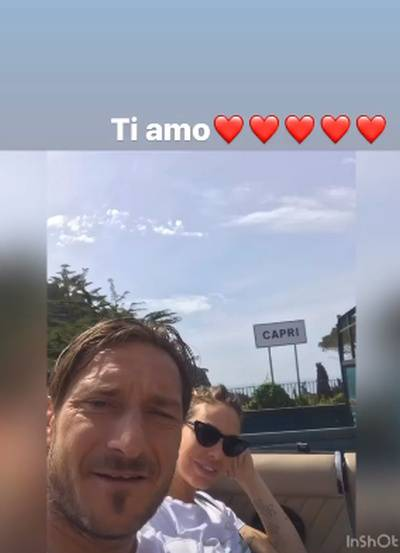 Ilary Blasi e Totti