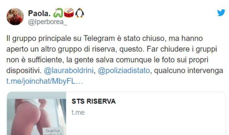 telegram stupro