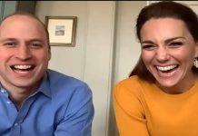 William e Kate in videochiamata