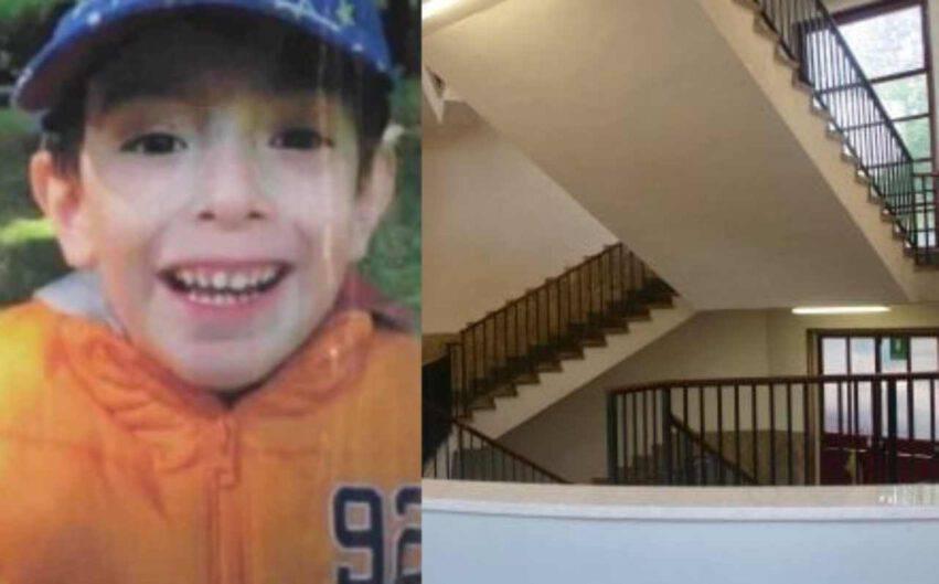 Bambino caduto dalla scale scuola