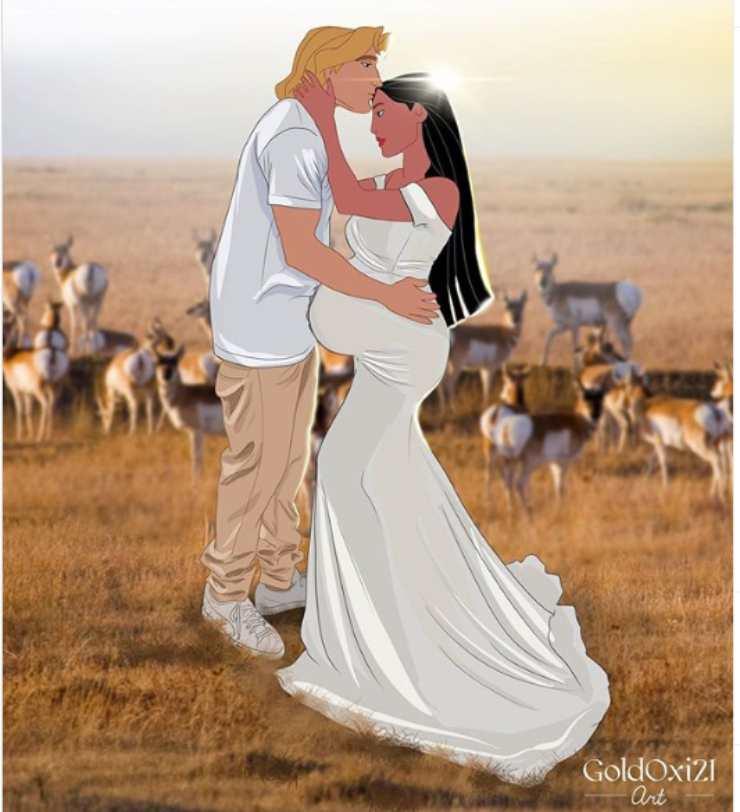 Pocahontas incinta