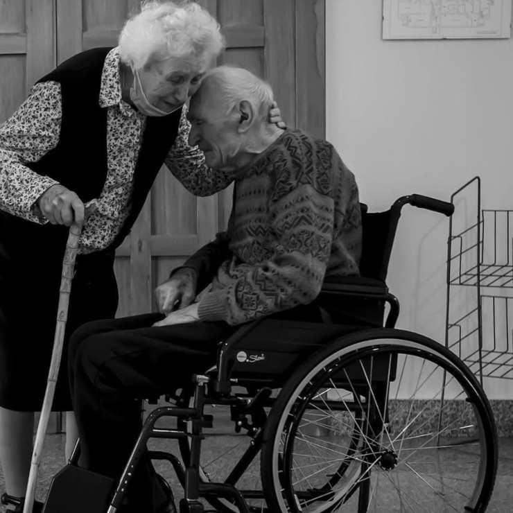 coppia di centenari riuniti