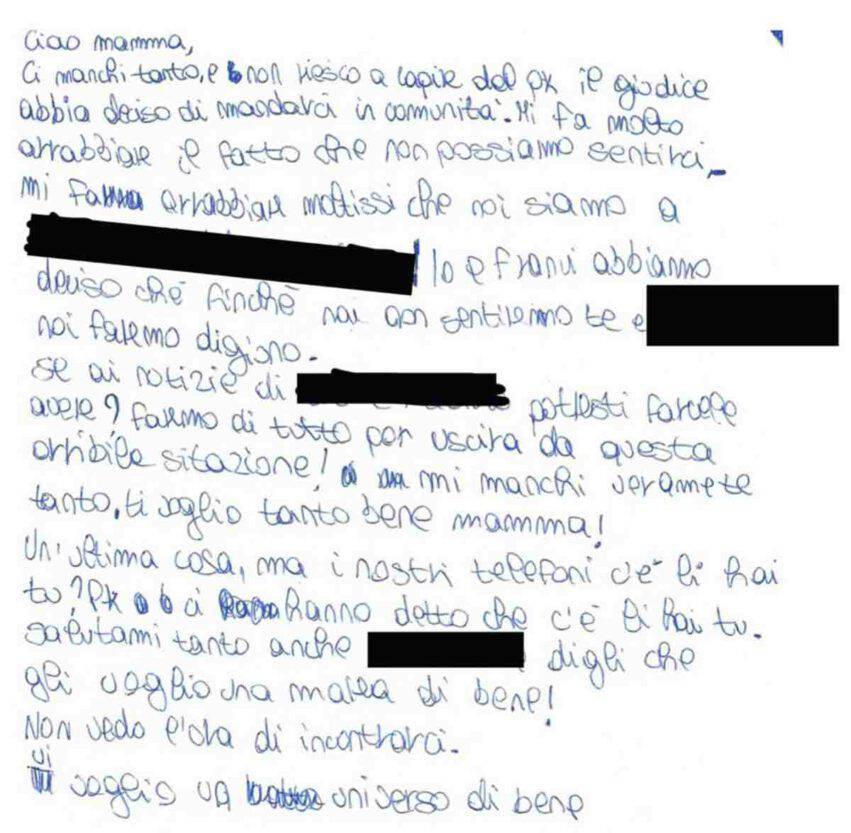 lettera bambini separati