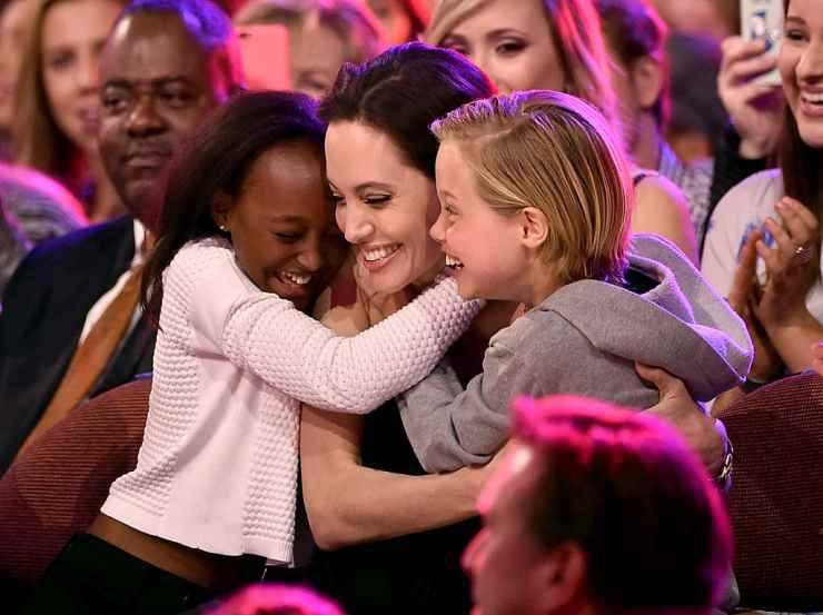 Brad Pitt e Angelina Jolie sereni