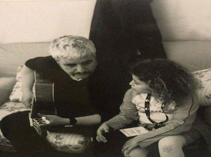 Pino Daniele e Sara da piccola