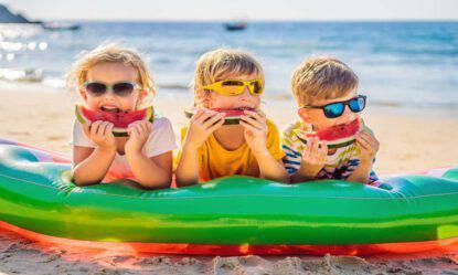 Spiaggia bambini pranzo