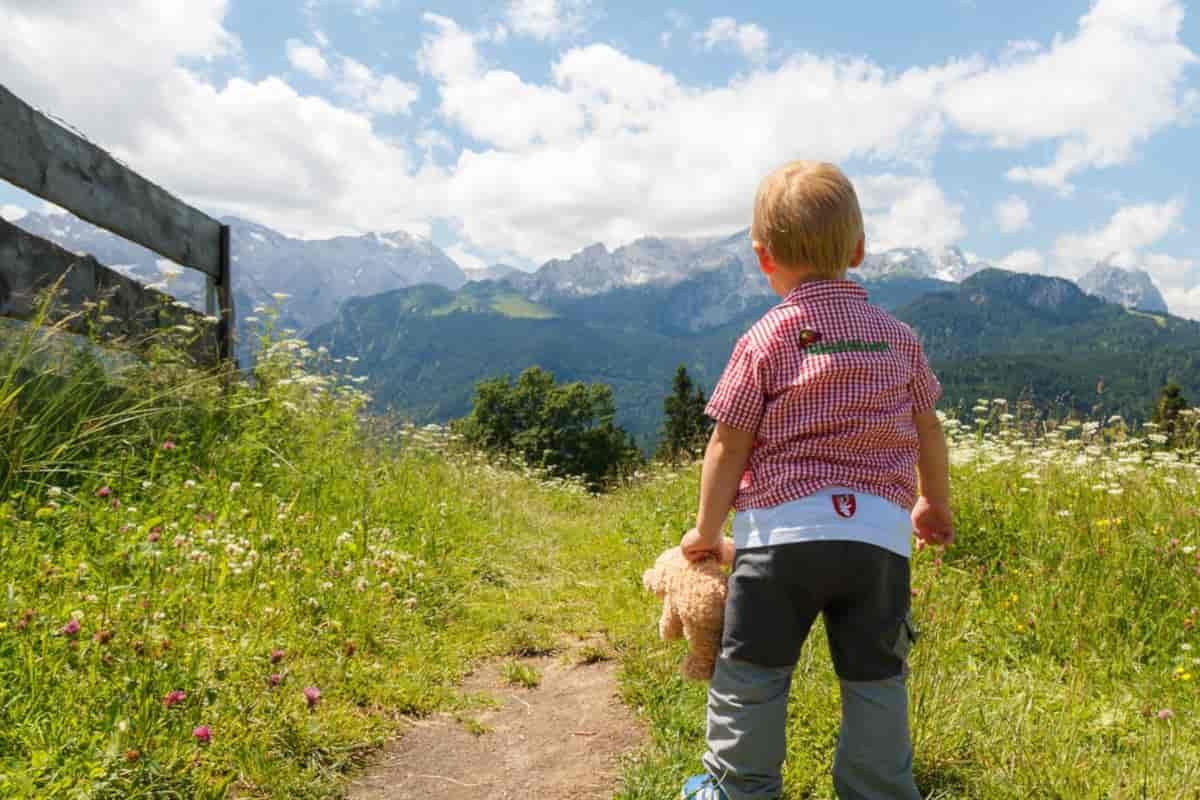 montagna bambini