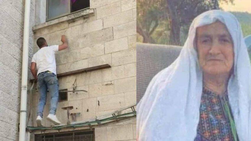 figlio guarda mamma dalla finestra