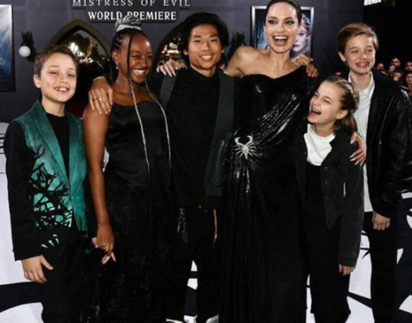 Angelina Jolie figli quarantena