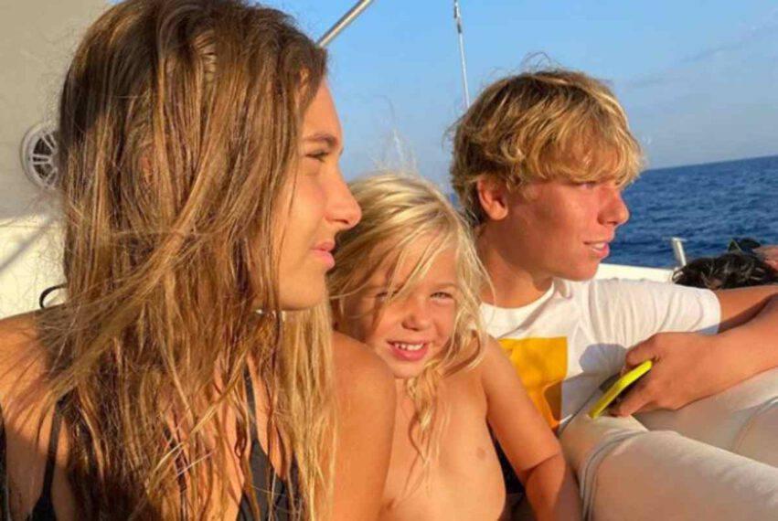 Francesco Totti e Ilary Blasi vacanze