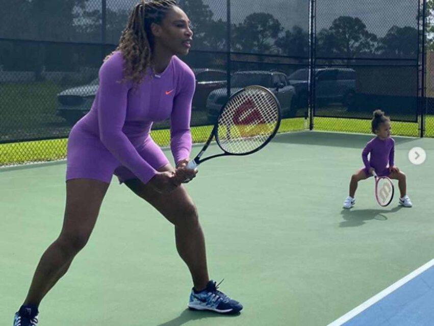 Serena Williams e la figlia