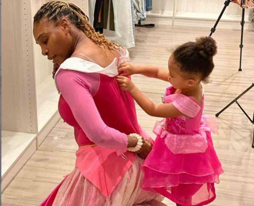 Serena William con Olympia