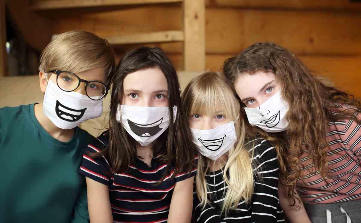 mascherine per bambini di moda