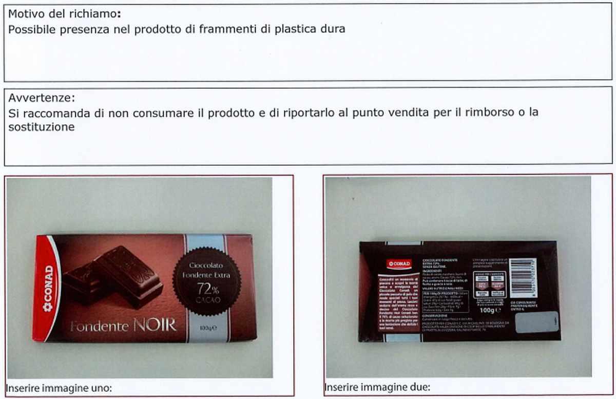 Cioccolata contminata