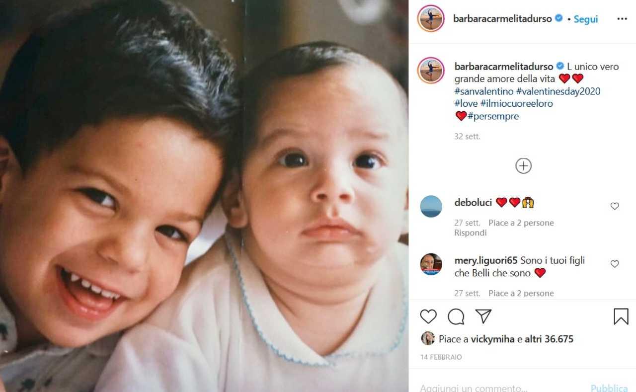 I figli di Barbara D'Urso (fonte Instagram @barbaracarmelitadurso)