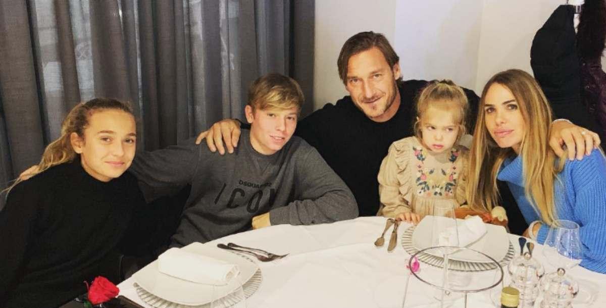 Francesco Totti e figli