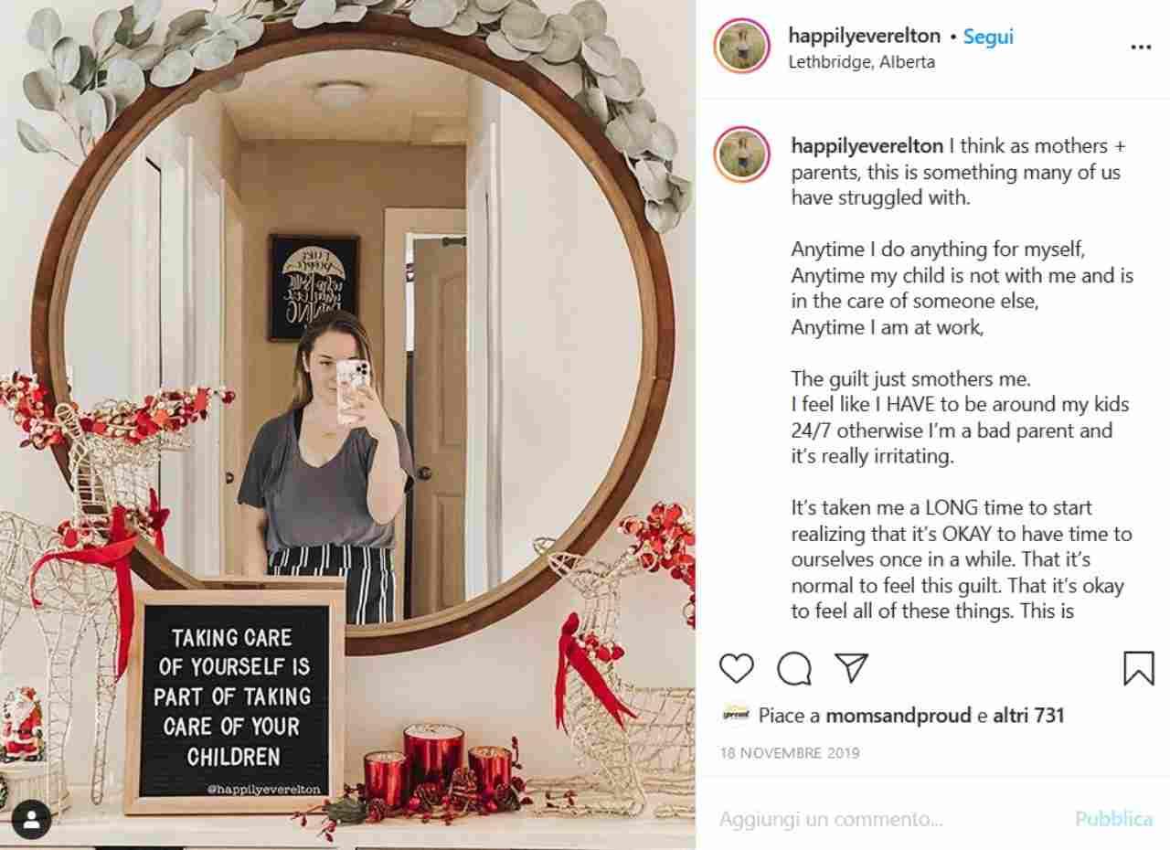 Keira Mary postparto (fonte Instagram @happilyyeverelton)