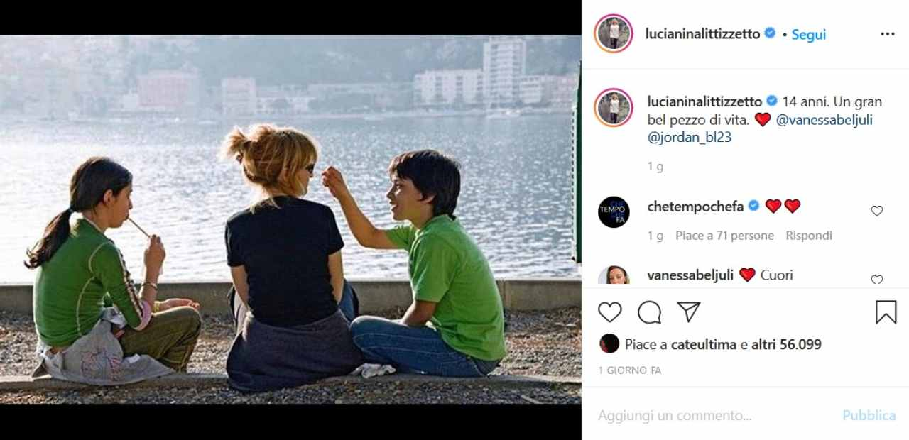 Luciana Littizzetto con i suoi figli Vanessa e Jordan (fonte Instagram @lucianinalittizzetto)
