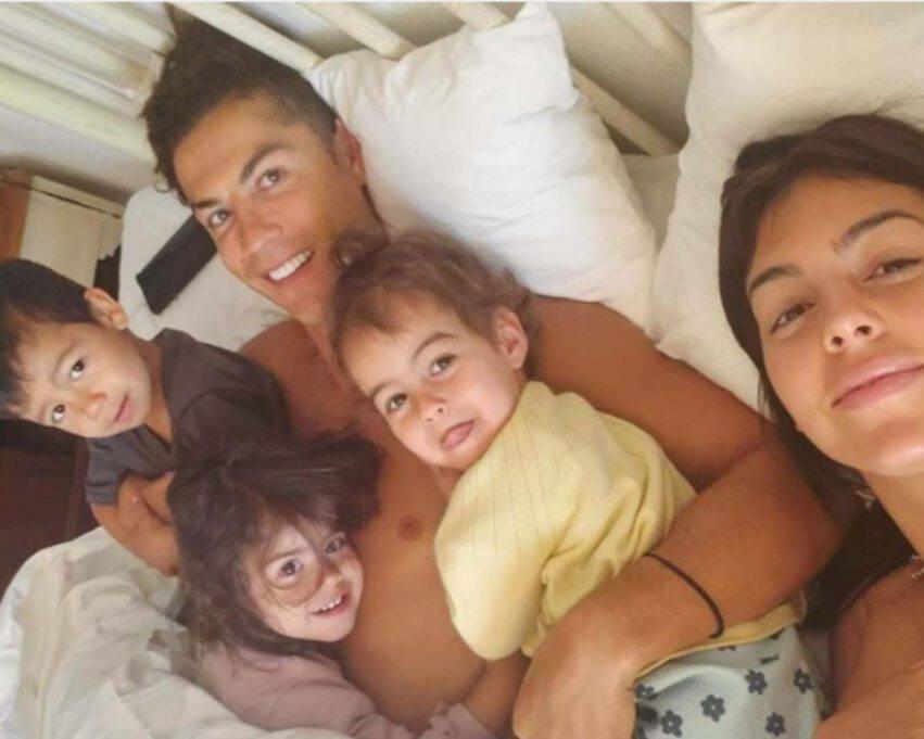 Ronaldo coi figli