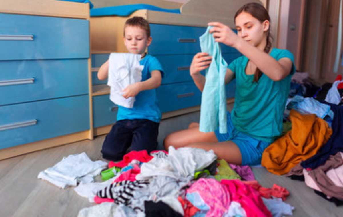 organizzare l'armadio dei bambini praticità