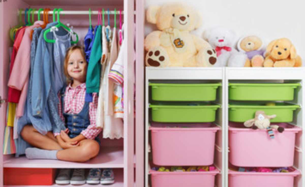 organizzare l'armadio dei bambini