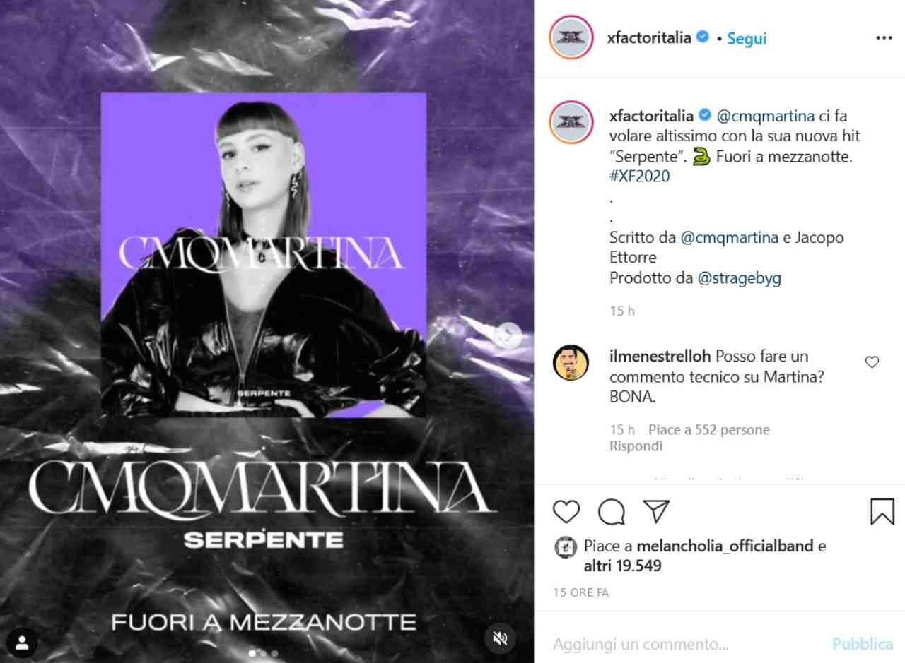 Cmqmartina (fonte Instagram @xfactoritalia)
