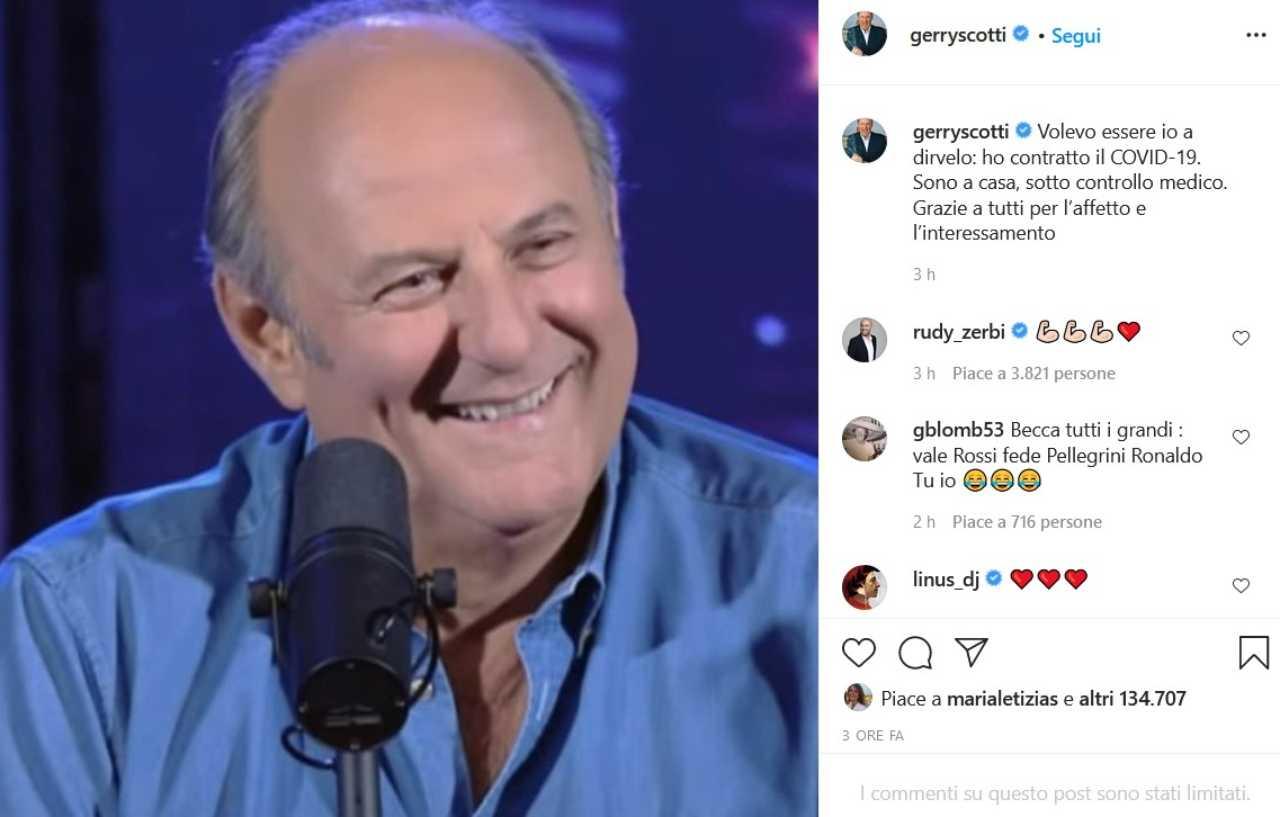 Gerry Scotti (fonte Instagram @gerryscotti)