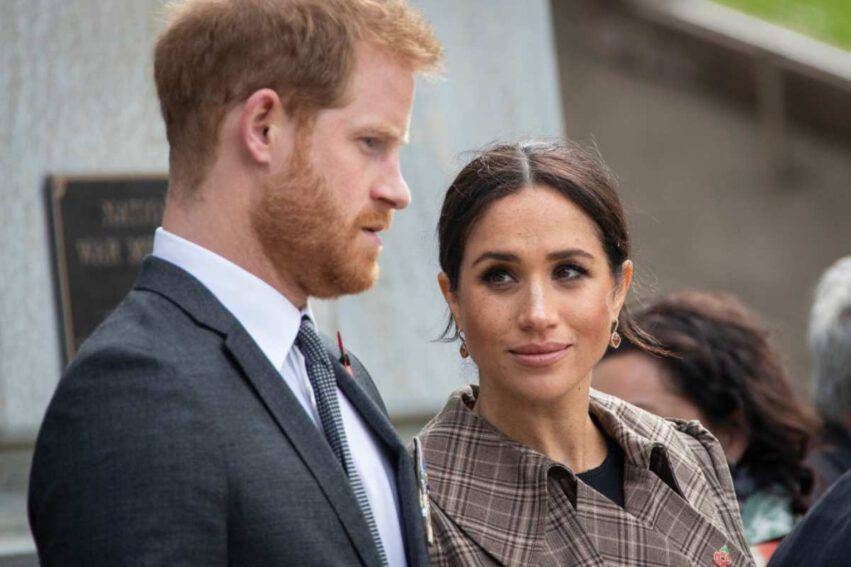 Harry e Meghan foto in B/n