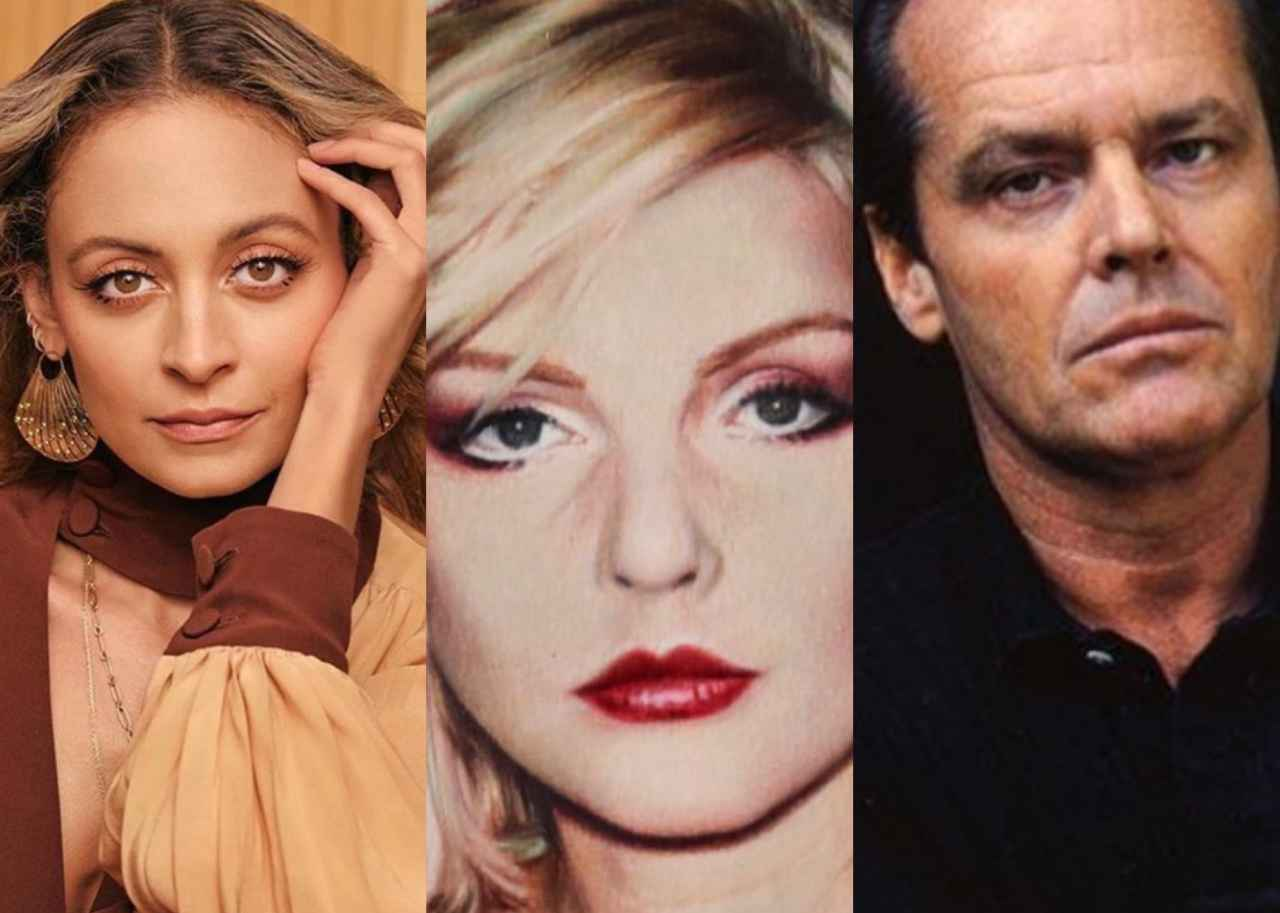 Nicole Richie, Blondie e Jack Nicholson (fonte Instagram @nicolerichie @blondieofficial @jacknichols