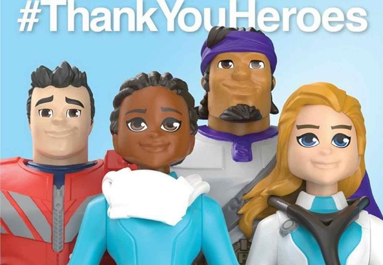 ThankYouHeroes, collezione Mattel (fonte @mattel)