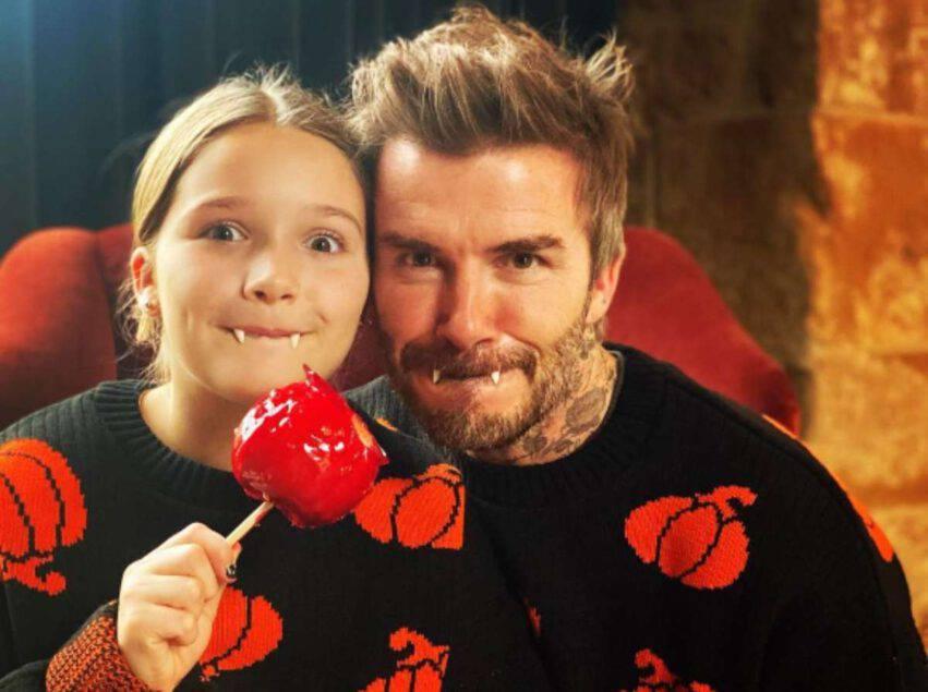 Beckham con Harper