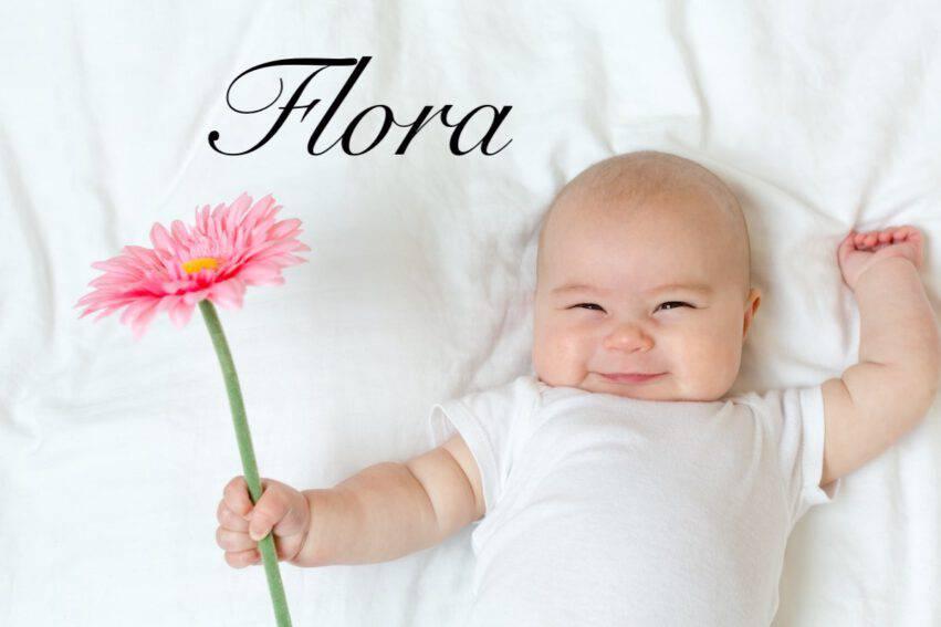 neonata fiore flora