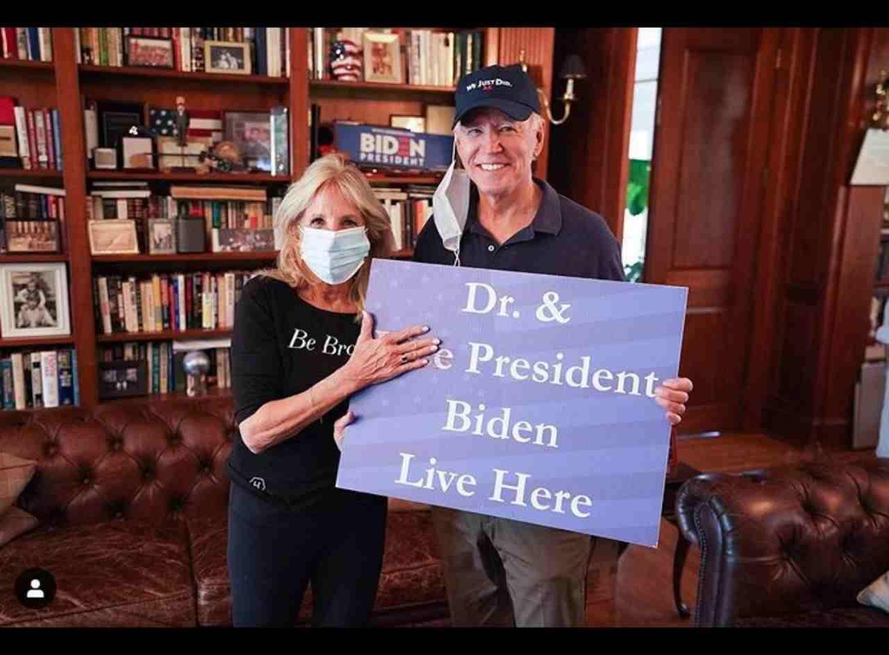 Jill e Joe Biden (fonte Instagram @drbiden)