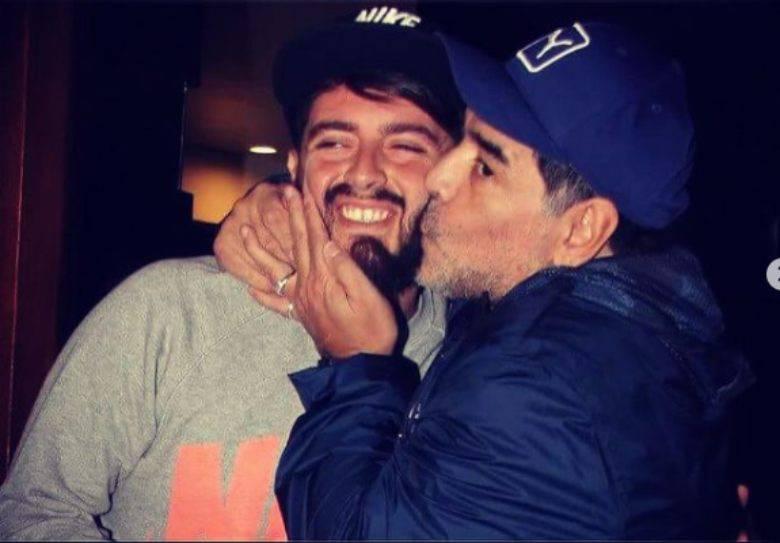 Maradona e figlio
