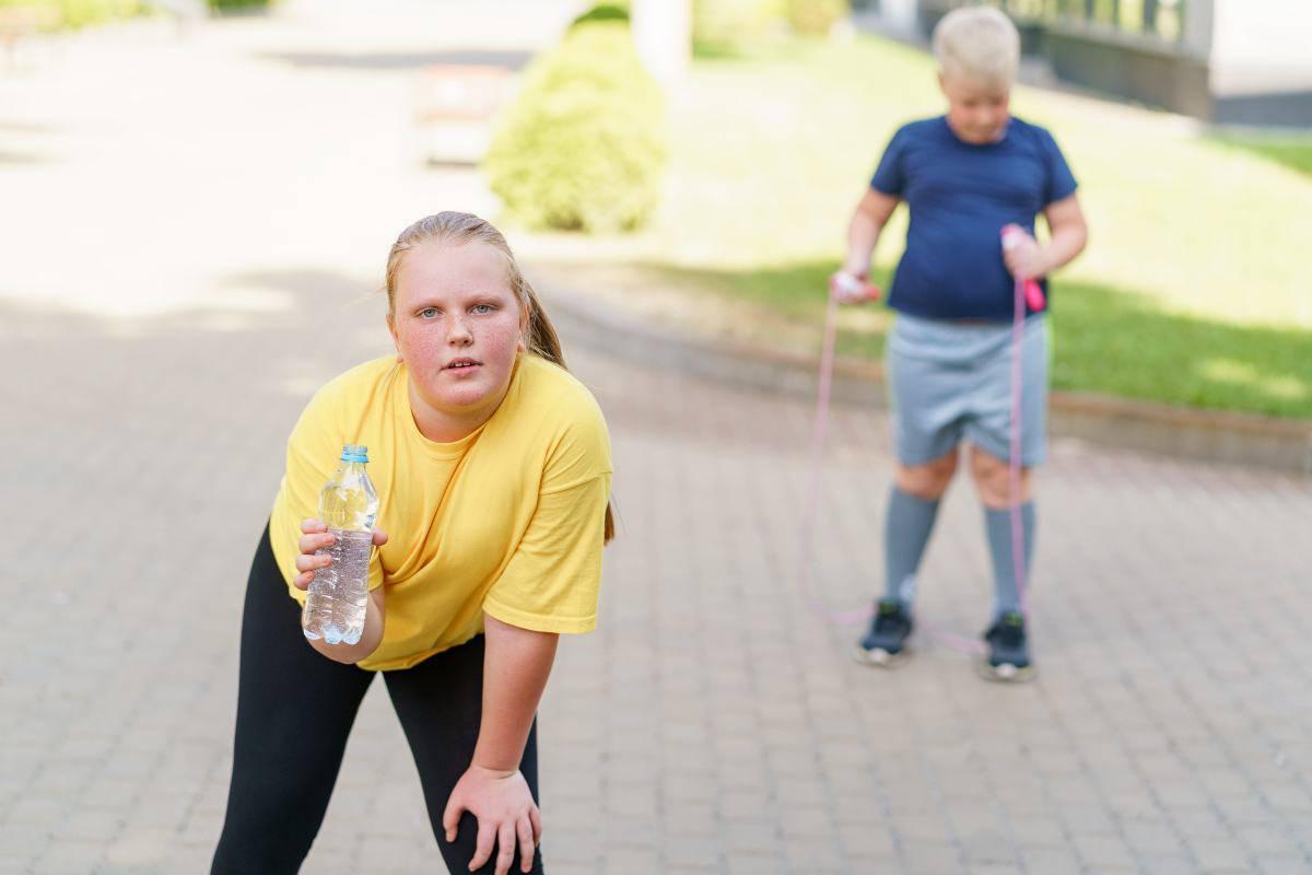 obesità nei bambini fare attività fisica