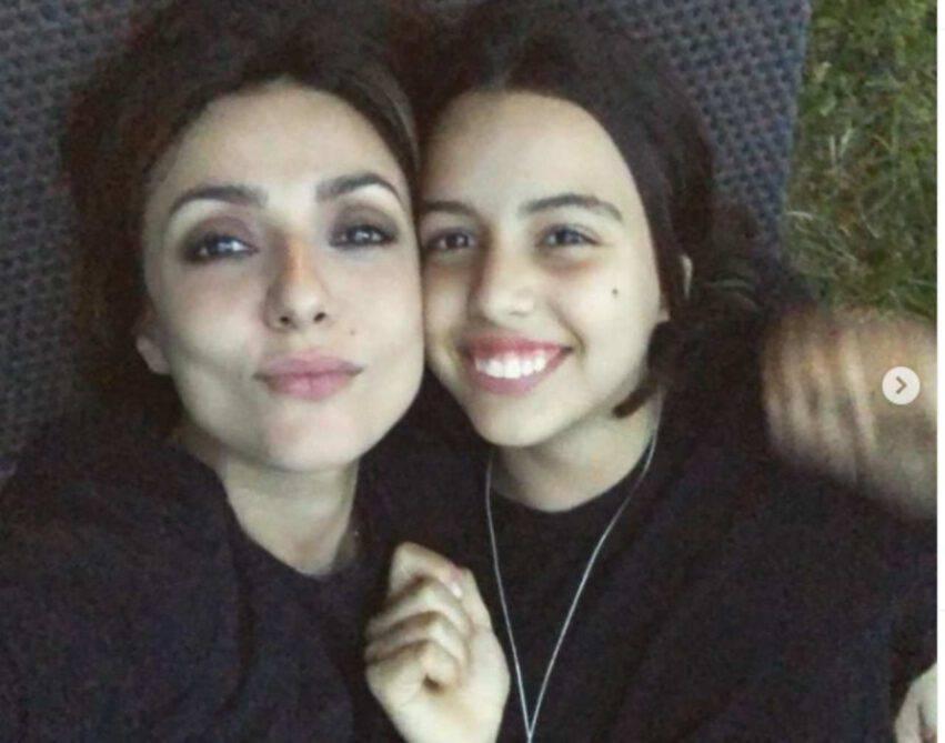 Ambra Angiolini e figlia