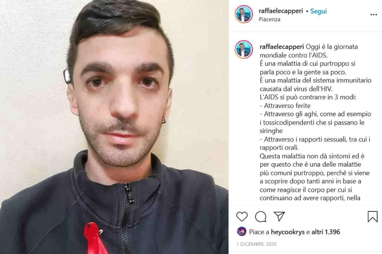 Raffaele Capperi (fonte Instagram @raffaelecapperi)